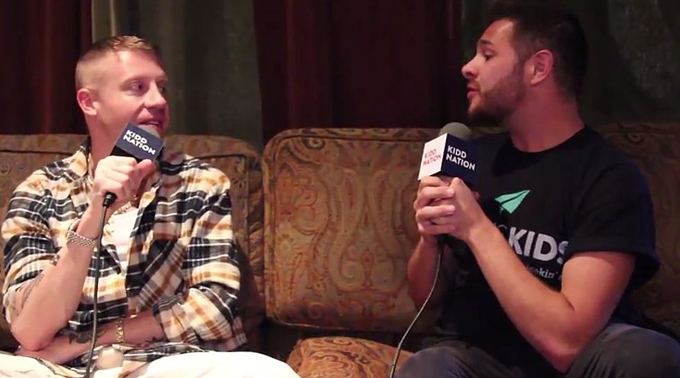 The Kidd Kraddick Morning Show Is Backstage With Macklemore