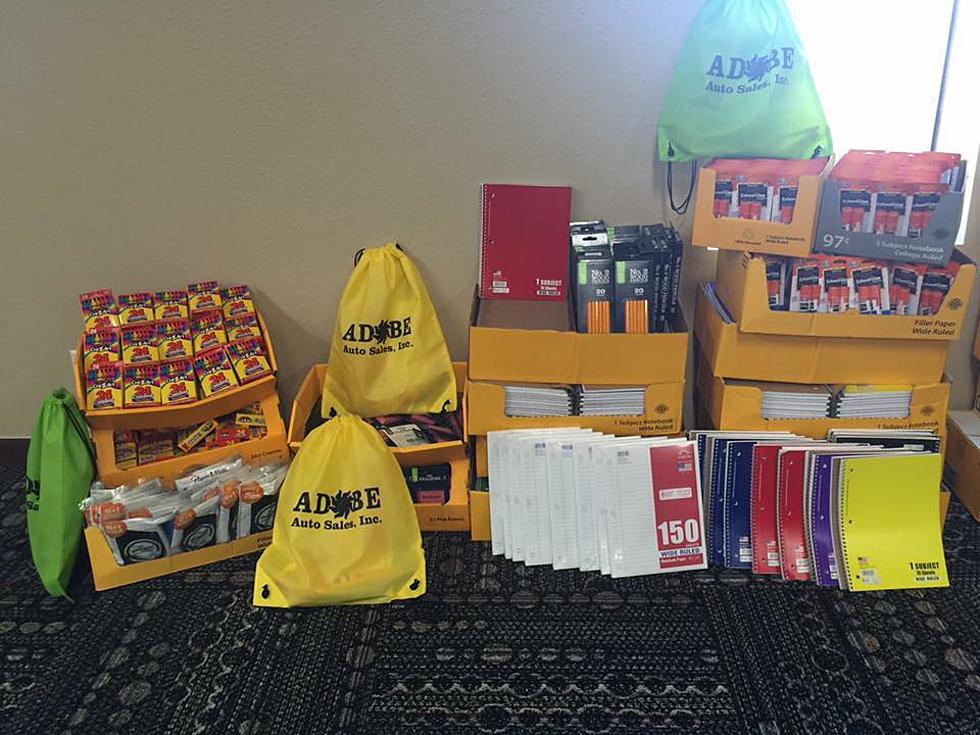 Adobe Auto Sales Helping Lubbock Kids With Free School Supplies