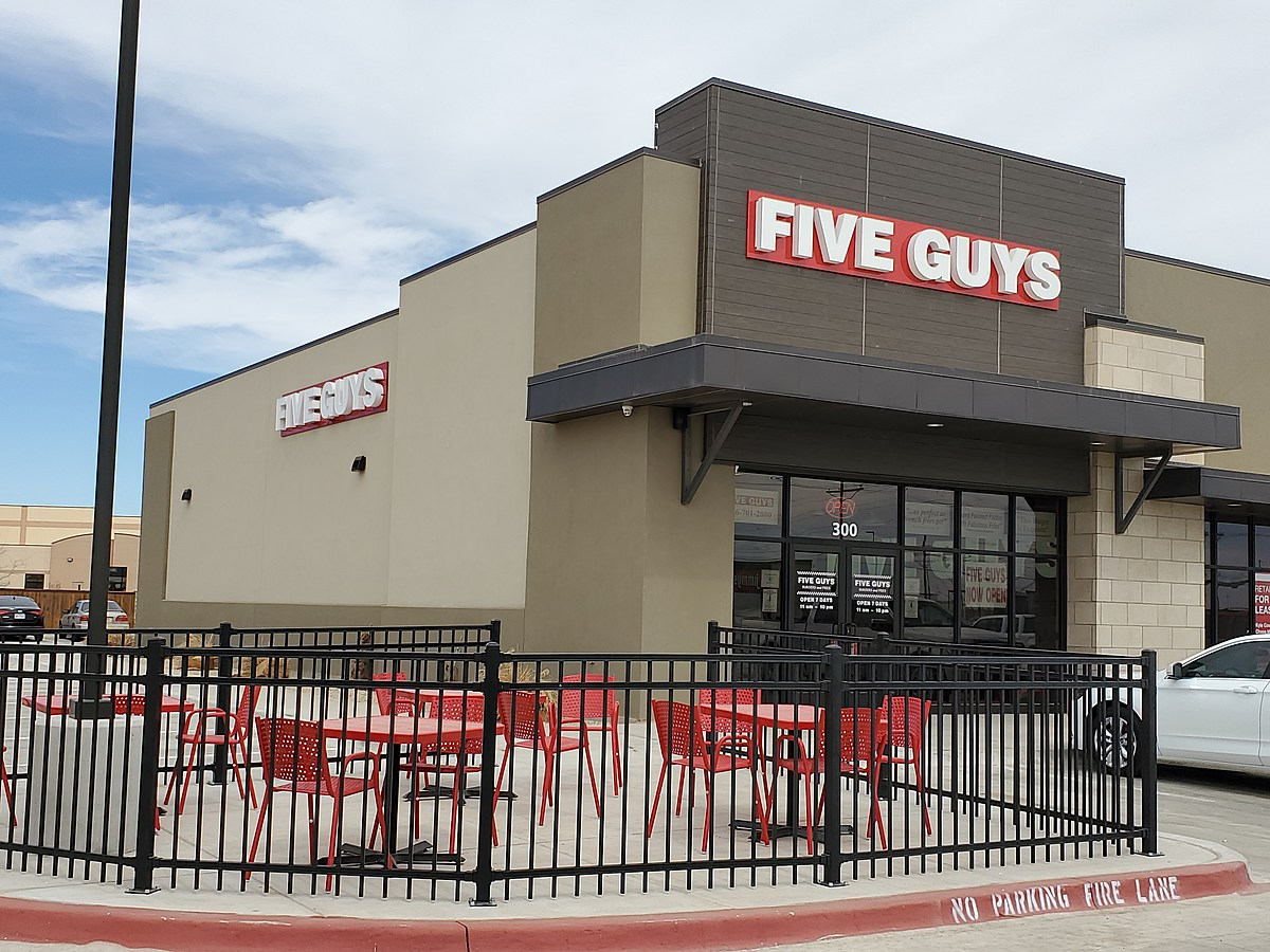 The New Five Guys Location Is Finally Open in South Lubbock