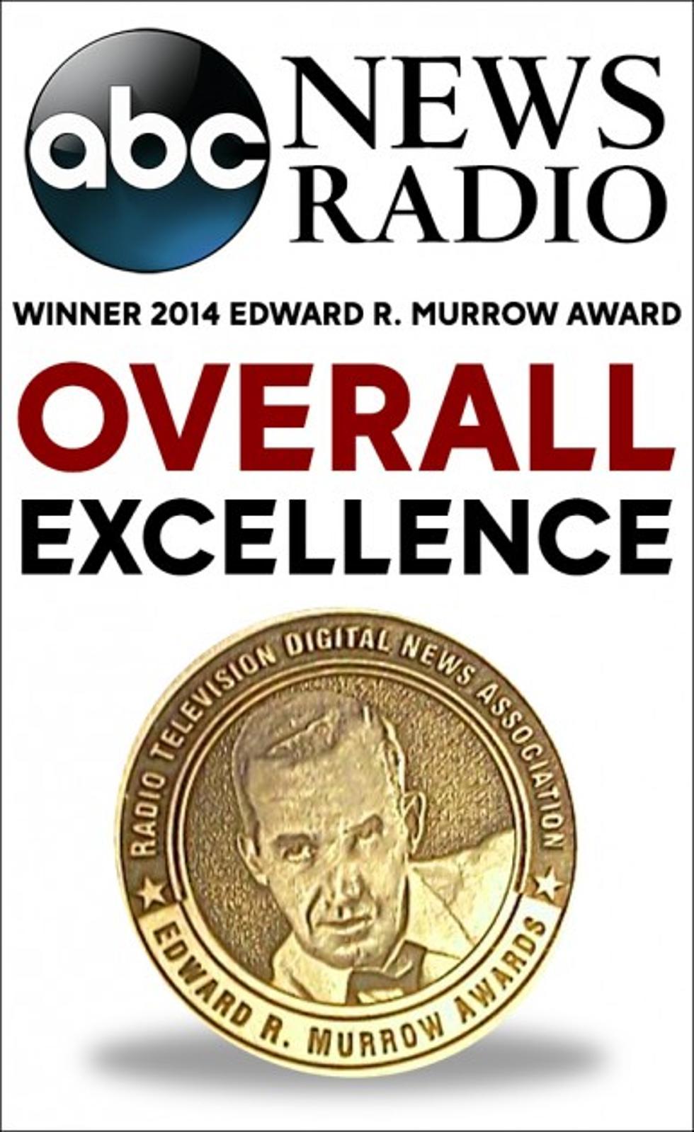ABC News Radio Awarded with 2014 Edward R  Murrow Award for