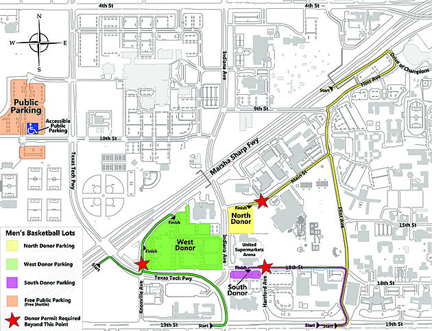 Map Of Texas Tech.Tx Tech Releases Updated Parking Info For Red Raider Basketball