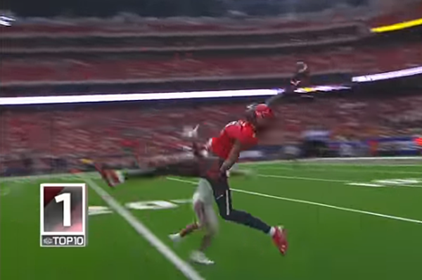 Confirmed: T J  Vasher's Catch Was the Best of the Weekend