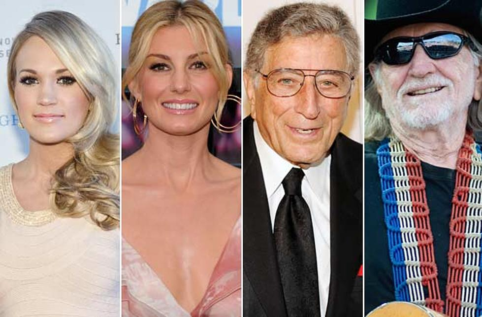 Carrie Underwood, Faith Hill and Willie Nelson to Sing With Tony