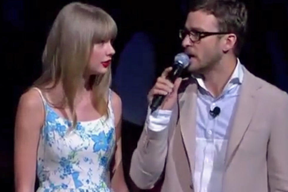 b74b6ccdae11 Taylor Swift Awkwardly Tells Justin Timberlake About Her Love of Walmart