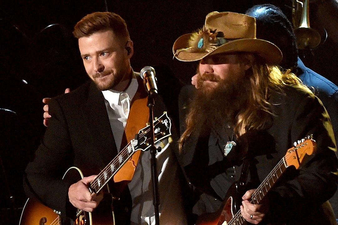 ee9783e28f43 Chris Stapleton Joins Justin Timberlake for  Say Something  at 2018 Brit  Awards  Watch