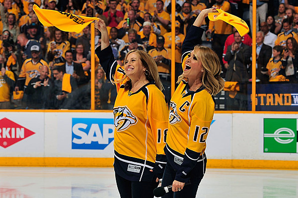Country Artists Celebrate Nashville Predators Going to Finals