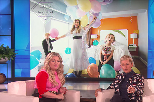 Kelly Clarkson Visited Ellen And Talked About Her Sassy Kids