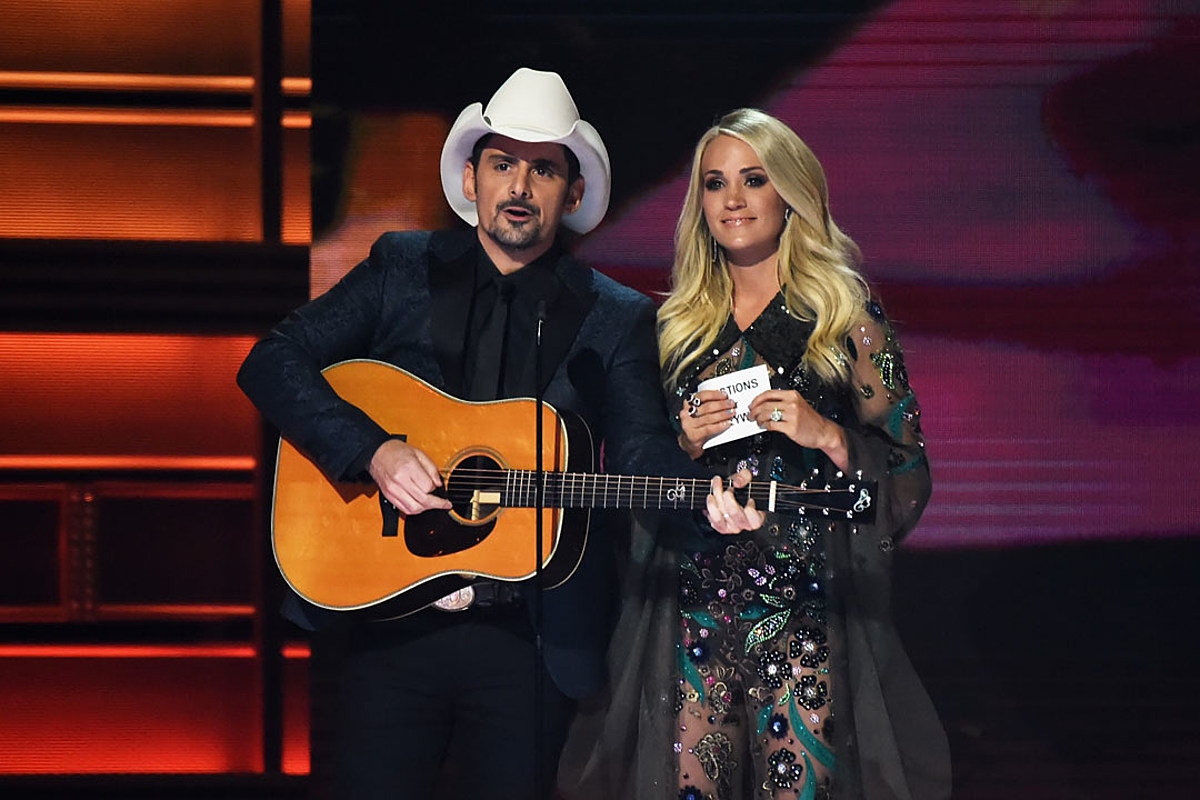 Brad Paisley 'Can't Wait' to Watch Carrie Underwood Host the CMAs – Taste of Country
