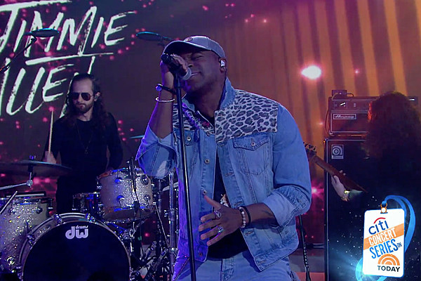 Watch Jimmie Allen Lights Up Today Stage With Like You Do