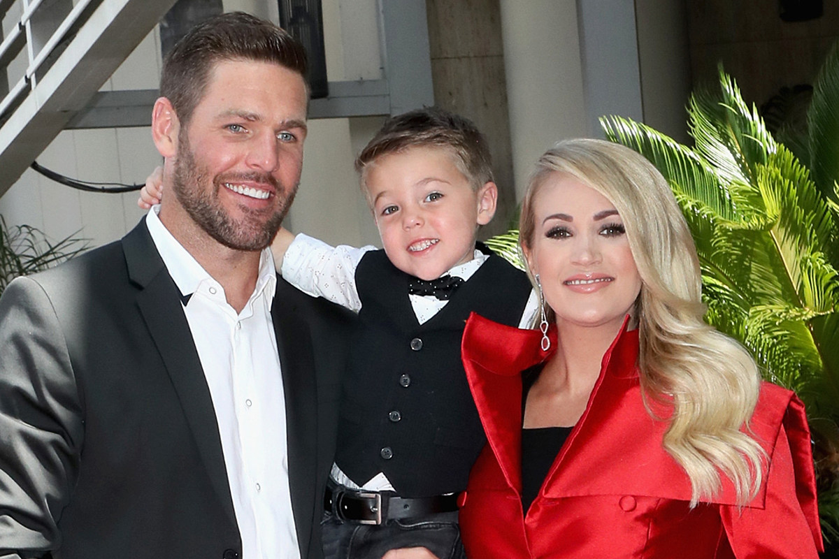 Carrie Underwood Family Wear Matching Christmas Onesies