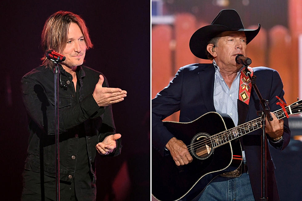 Keith Urban Offered To Jump Out Of George Straits Birthday Cake But Strait Has Someone Else In Mind