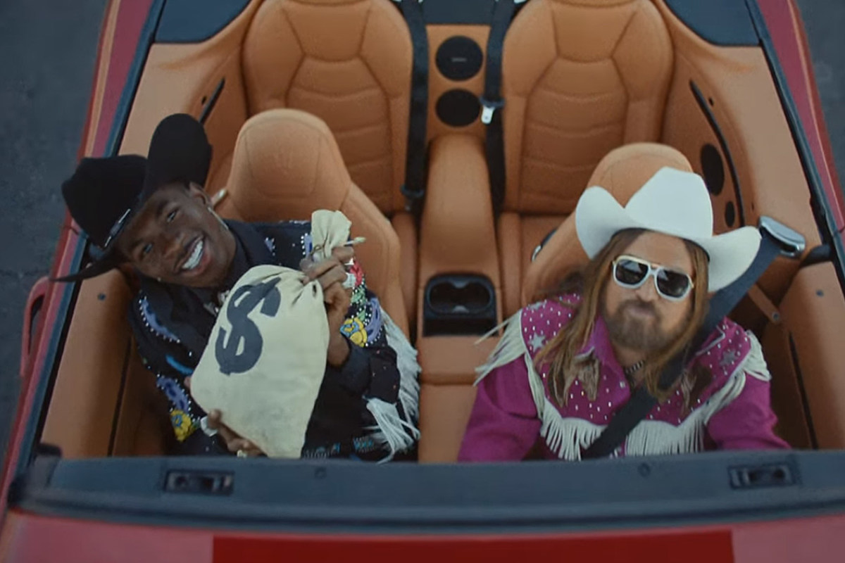 Image result for Lil Nas gifts Billy Ray Cyrus with a Maserati!
