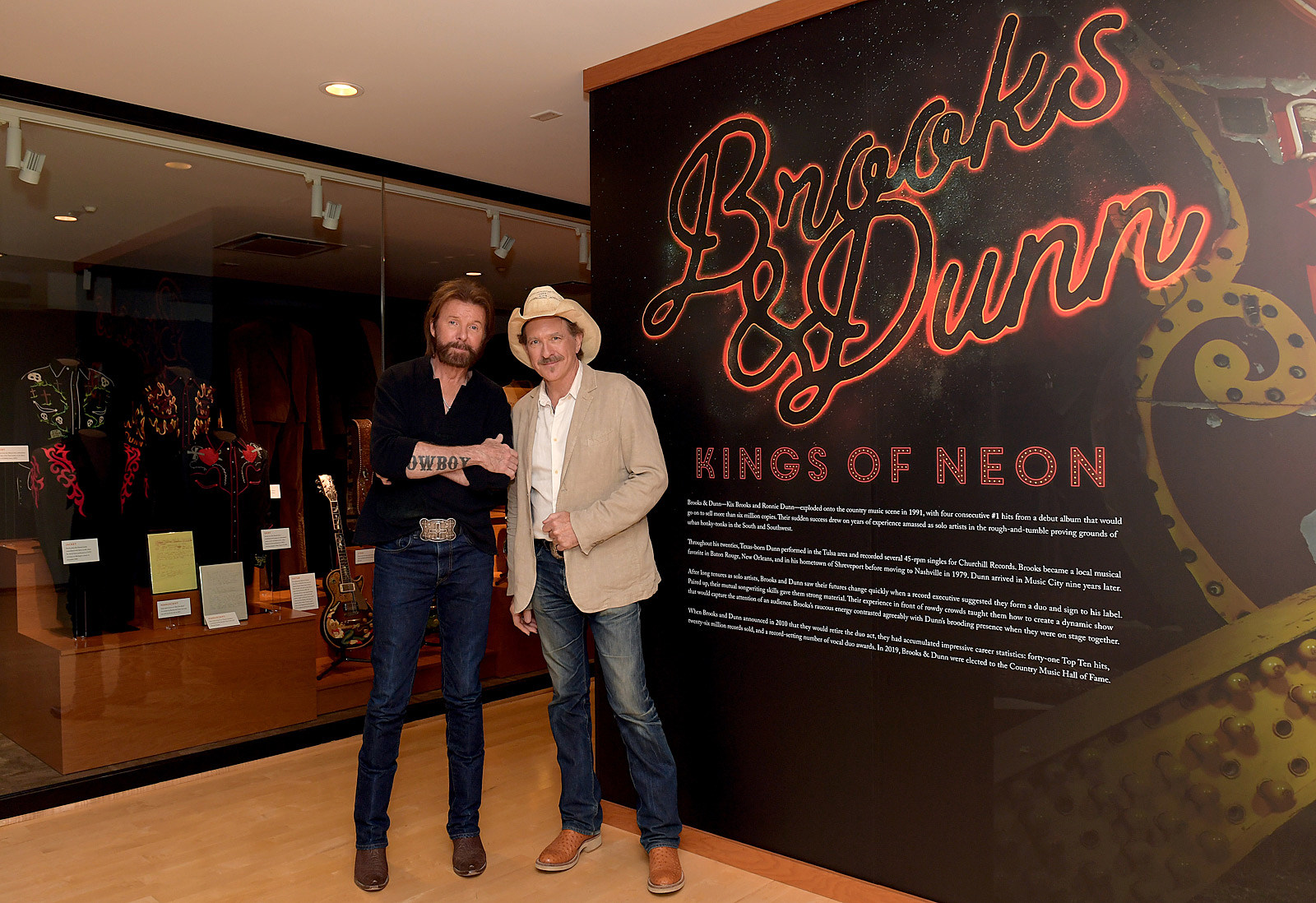 Brooks & Dunn Open 'Kings of Neon' Exhibit at Hall of Fame