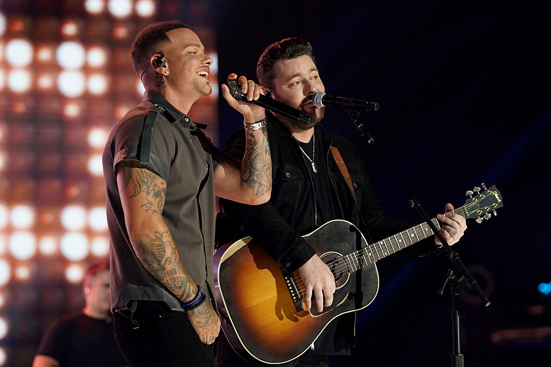 WATCH: Chris Young Had No Idea Kane Brown Was Right Behind Him