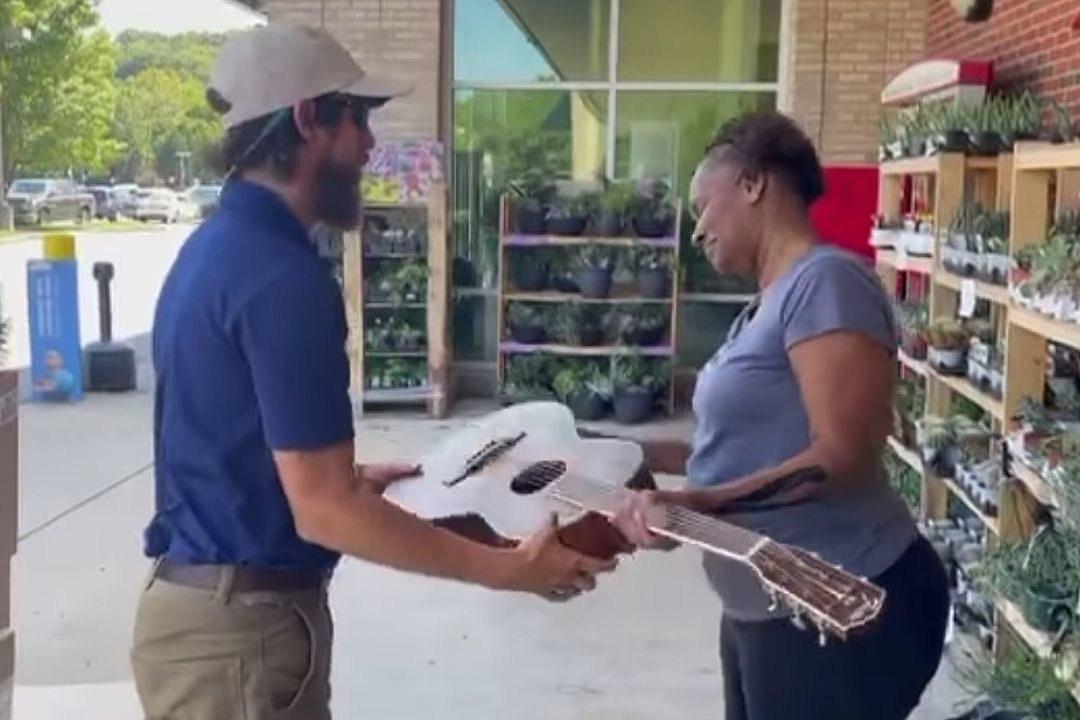 Chris Janson Goes Shopping, Gives His Guitar to Aspiring Singer