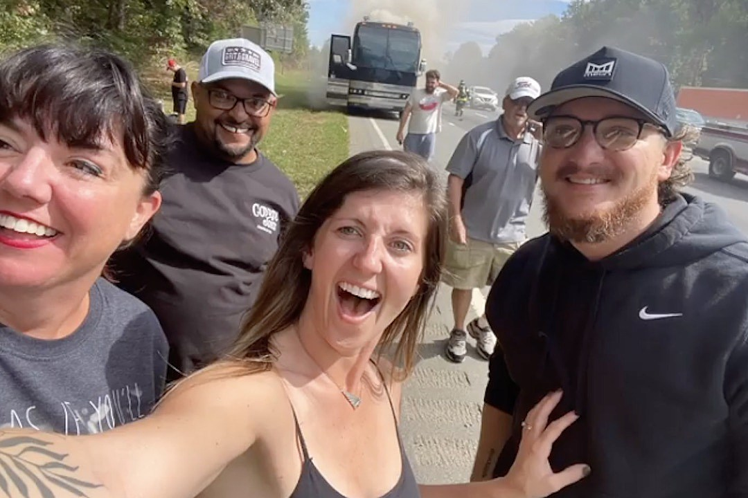 Pryor & Lee's Tour Bus Catches Fire While on the Road