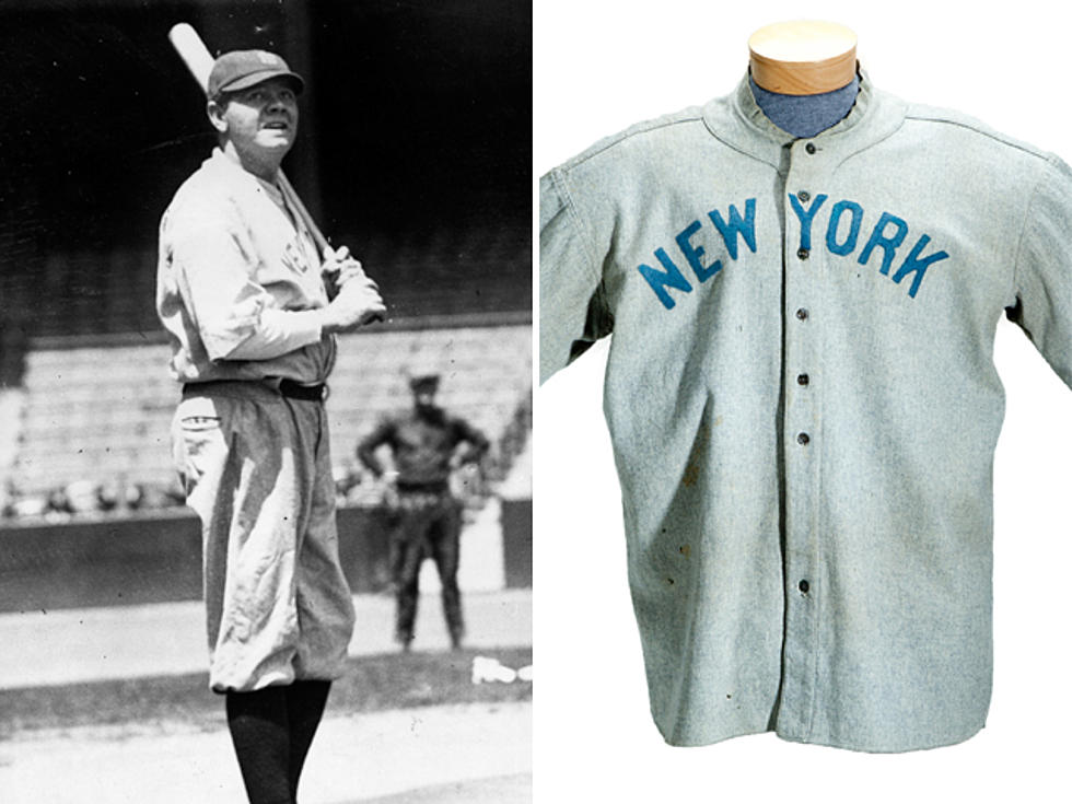 5bbc63149f9 Babe Ruth's New York Yankees Jersey Smashes Record By Selling for $4.4  Million at Auction