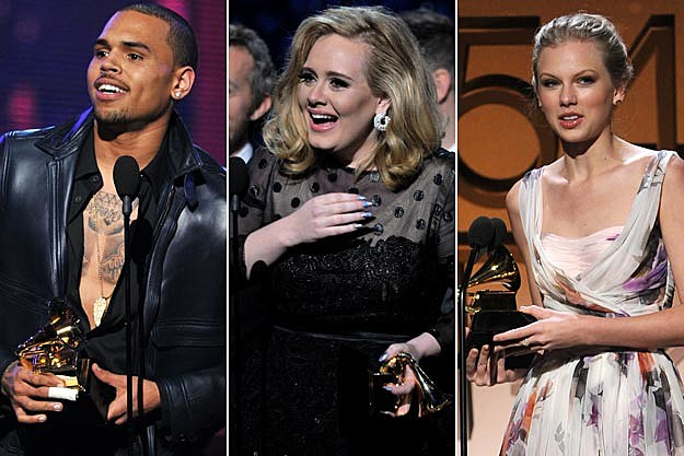 2012 Grammy Awards Fans React To Chris Brown Adele Taylor Swift Wins Performances
