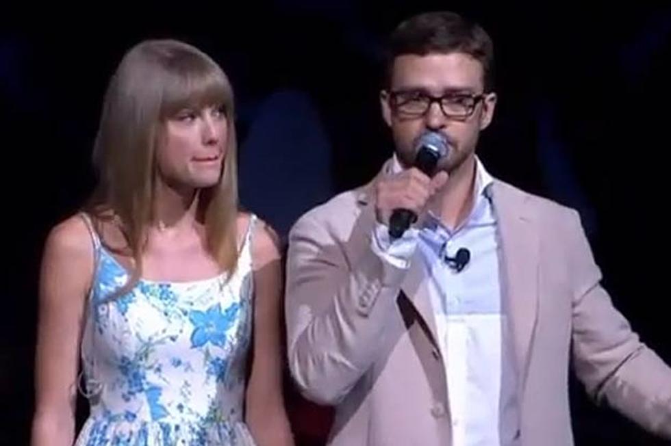 Justin Timberlake Hosts Walmart Shareholder Meeting Taylor Swift Sings