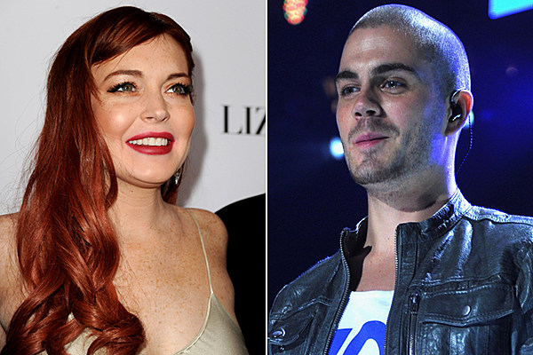 Lindsay Lohan Hangs With Max George + the Wanted