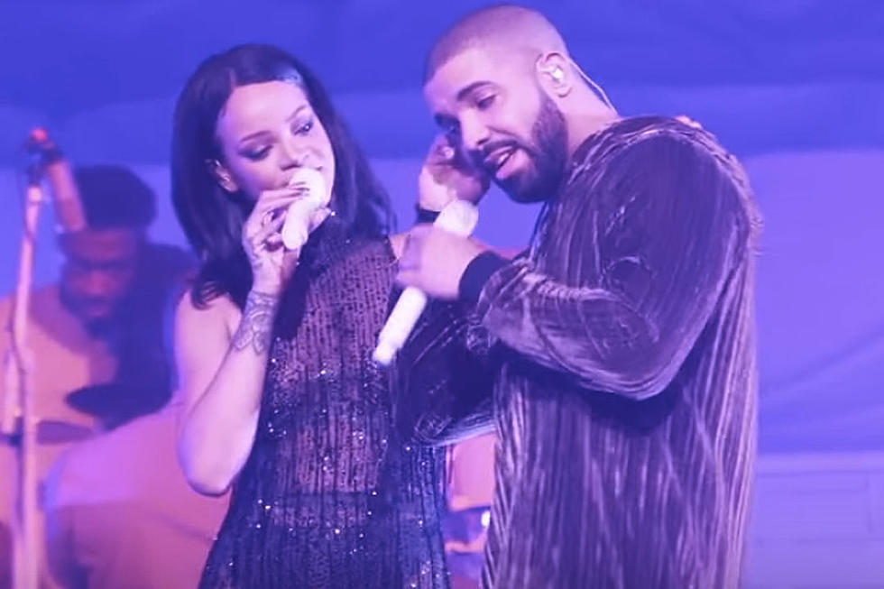 0ff890e53e84 Drake Joins Rihanna Onstage for Surprise  Work  Performance