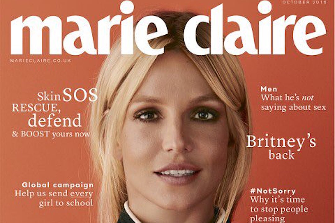 Britney Spears Goes Haute Coutureney on Cover of 'Marie Claire'