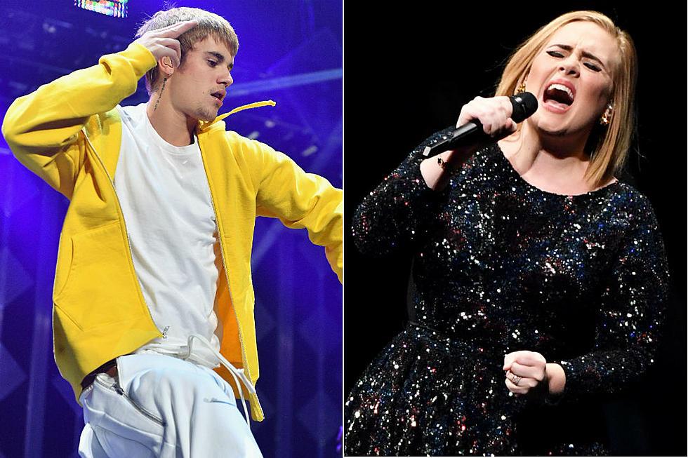 Was Adele or Justin Bieber Billboard's Top 2016 artist?