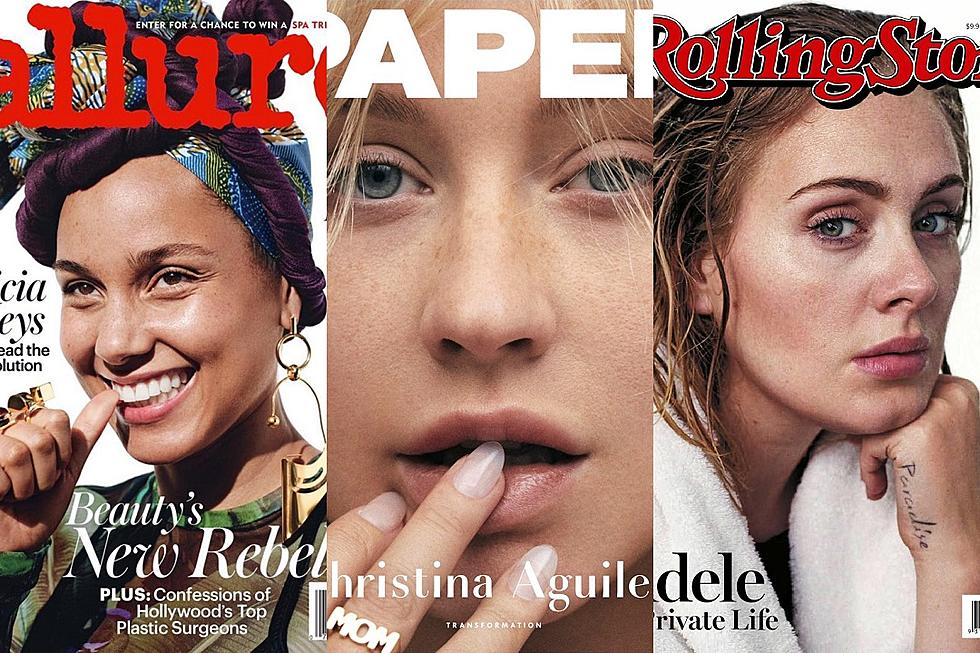 9 Celebrities Who Dared to Go Makeup-Free on Magazine Covers