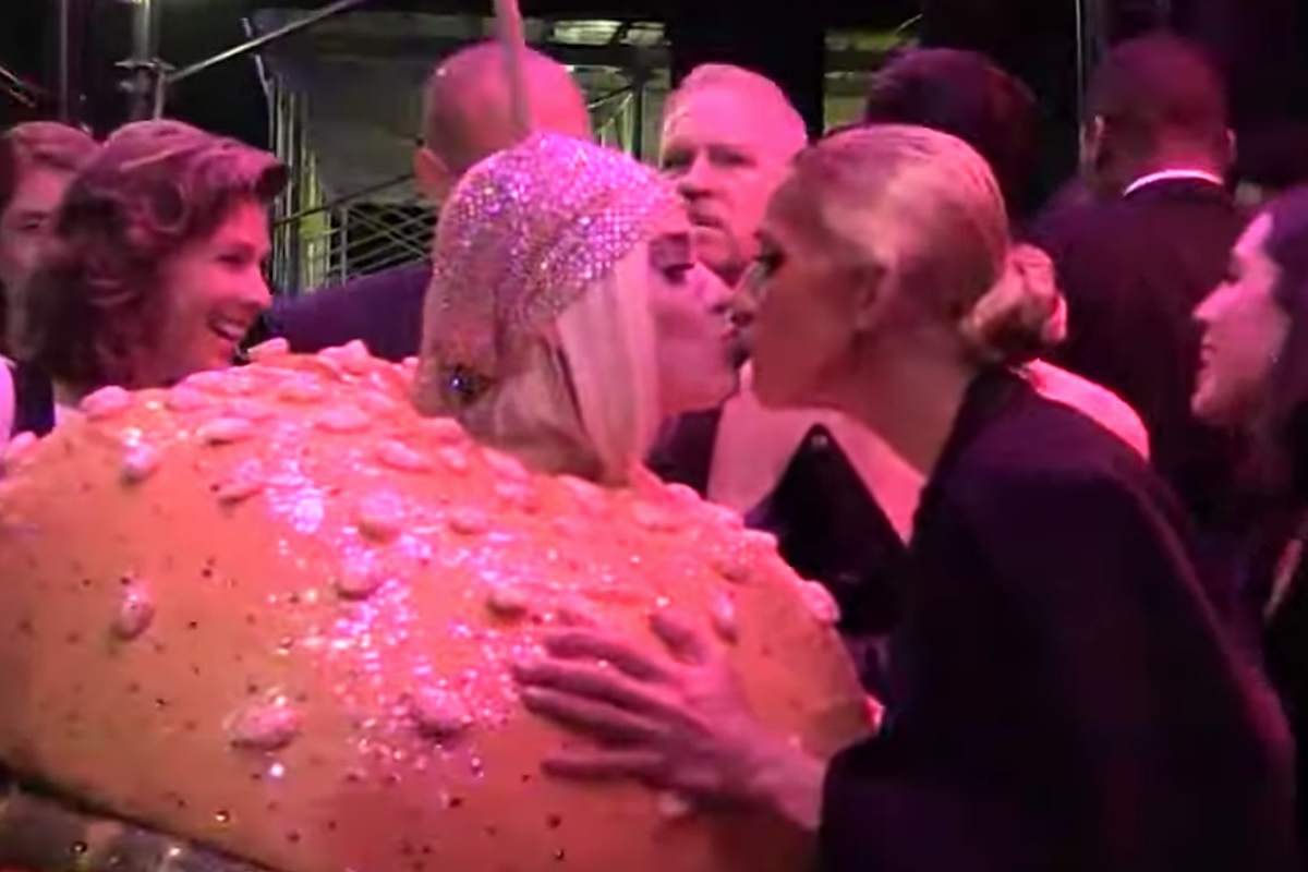 Katy Perry Celine Dion Totally Kissed At Met Gala After