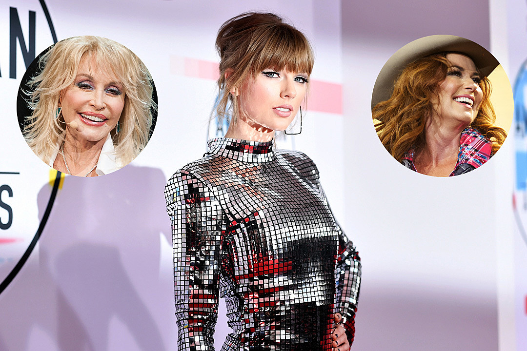 Taylor Swift Dubs Shania Twain & Dolly Parton Queens Of Her Heart