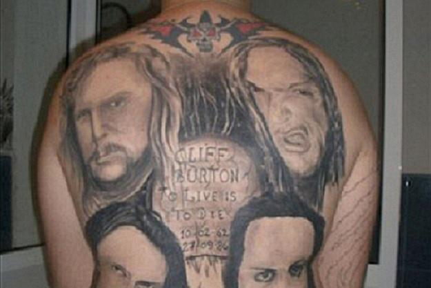 334d1e0e4815f Terrible ink jobs featuring the likenesses of Metallica and Guns N' Roses  frontman Axl Rose have landed on a list of worst tattoos compiled by our  sister ...