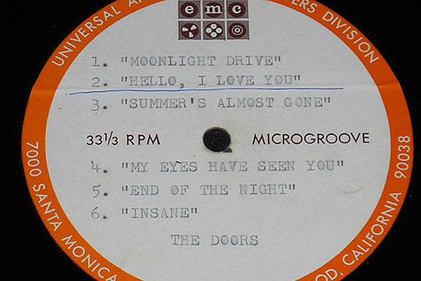 The Doors Rare 1965 Acetate Sells For 3 650 On Ebay