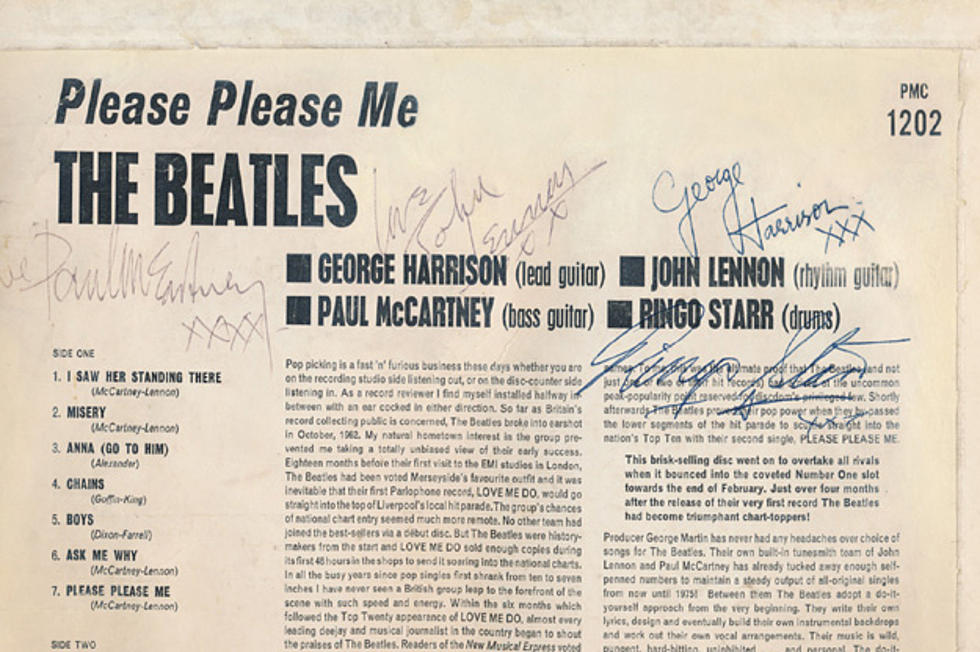 The Beatles Autographed Mono Vinyl 'Please Please Me' Sells