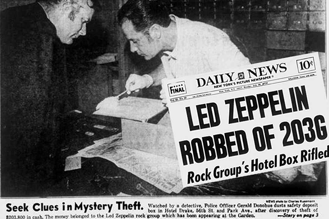 That Time Led Zeppelin Were Robbed of $200,000