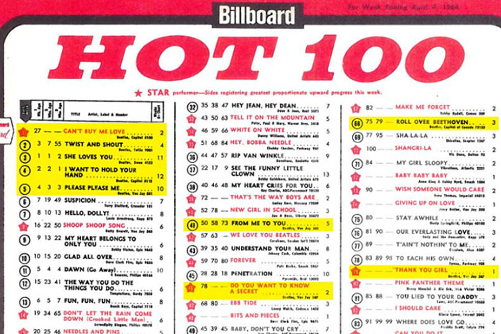 55 Years Ago: The Beatles Hold Top 5 on Billboard's Hot 100