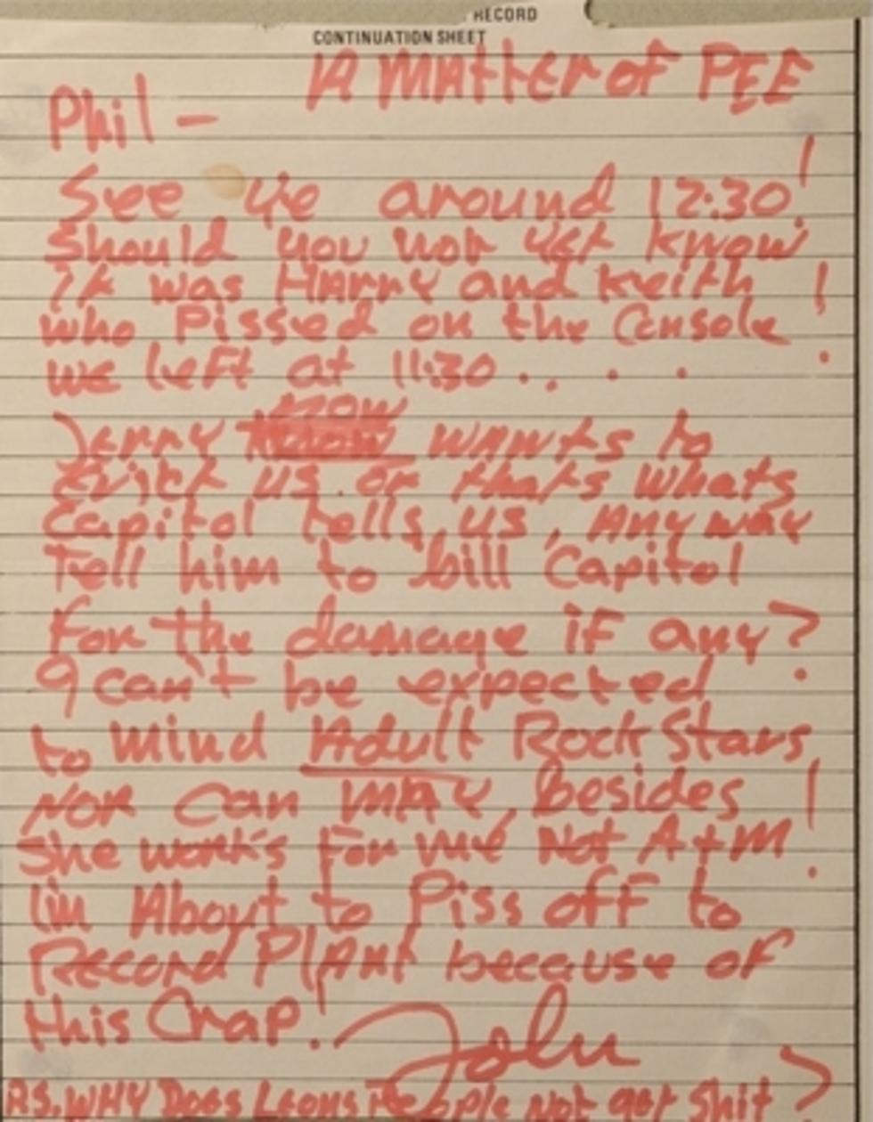John Lennon Letter to Phil Spector Going Up For Auction