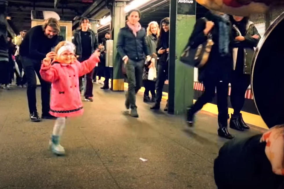 Little Girl Starts Subway Dance Party With Help From the