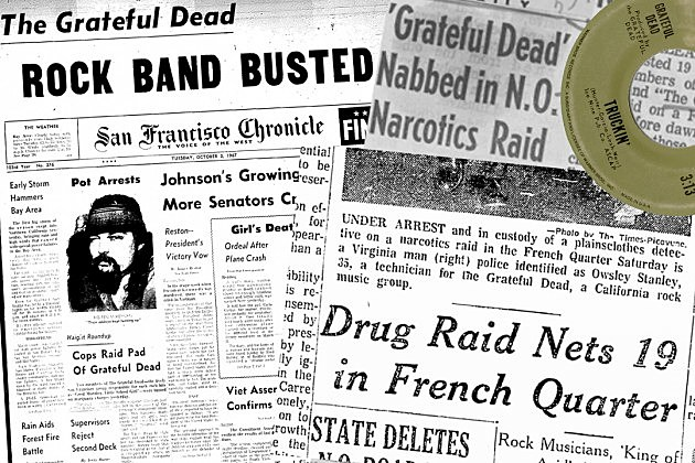 years ago the grateful dead s infamous truckin drug bust