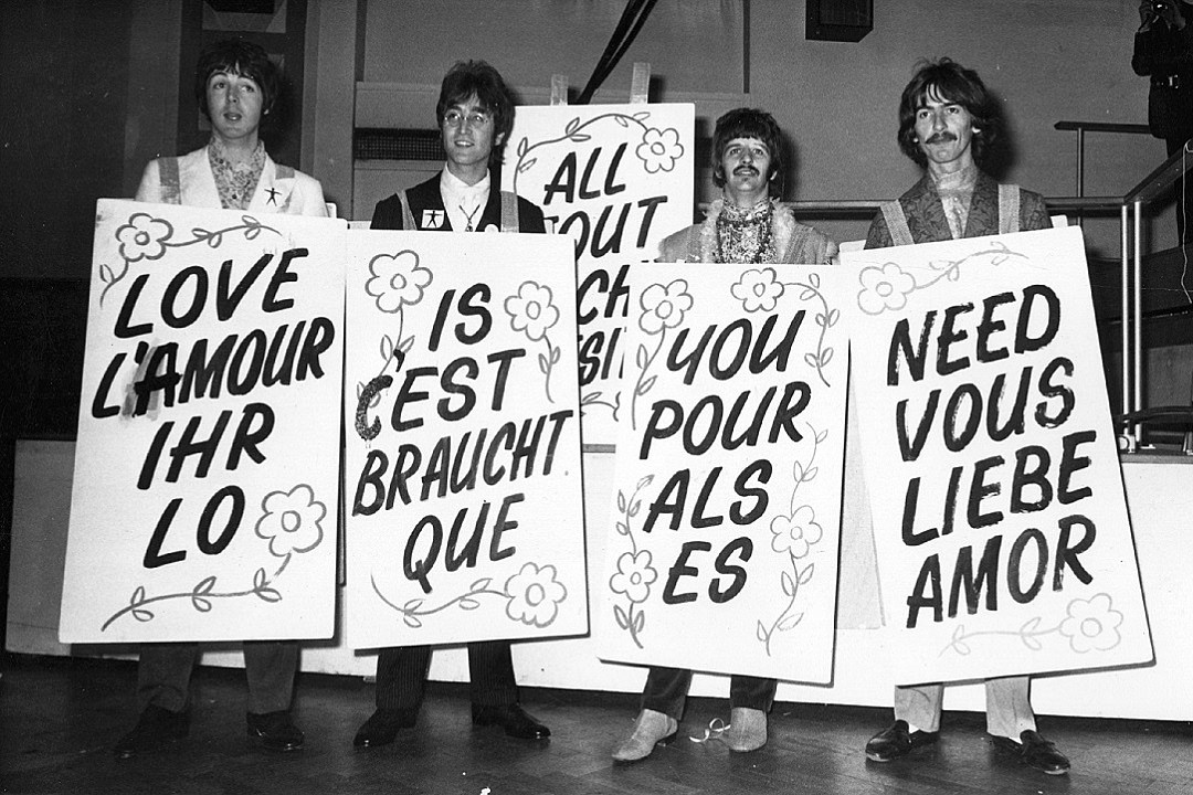 Image result for beatles love is all you need