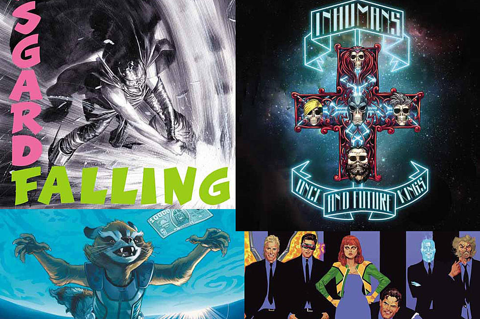 See Classic Rock Record Covers Given a Marvel Comics Twist