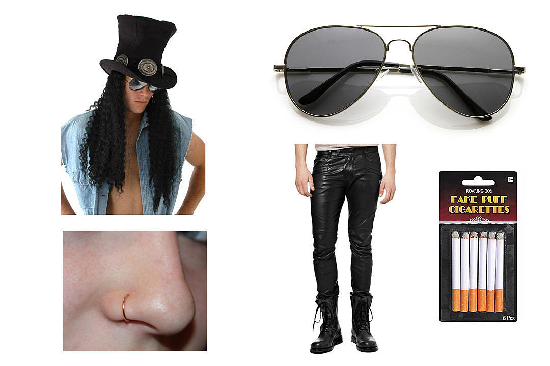 80a38f1a404 Dressing like Slash can be as simple as dressing like an ordinary rock  star—with extraordinary hair. Scoring the perfect long