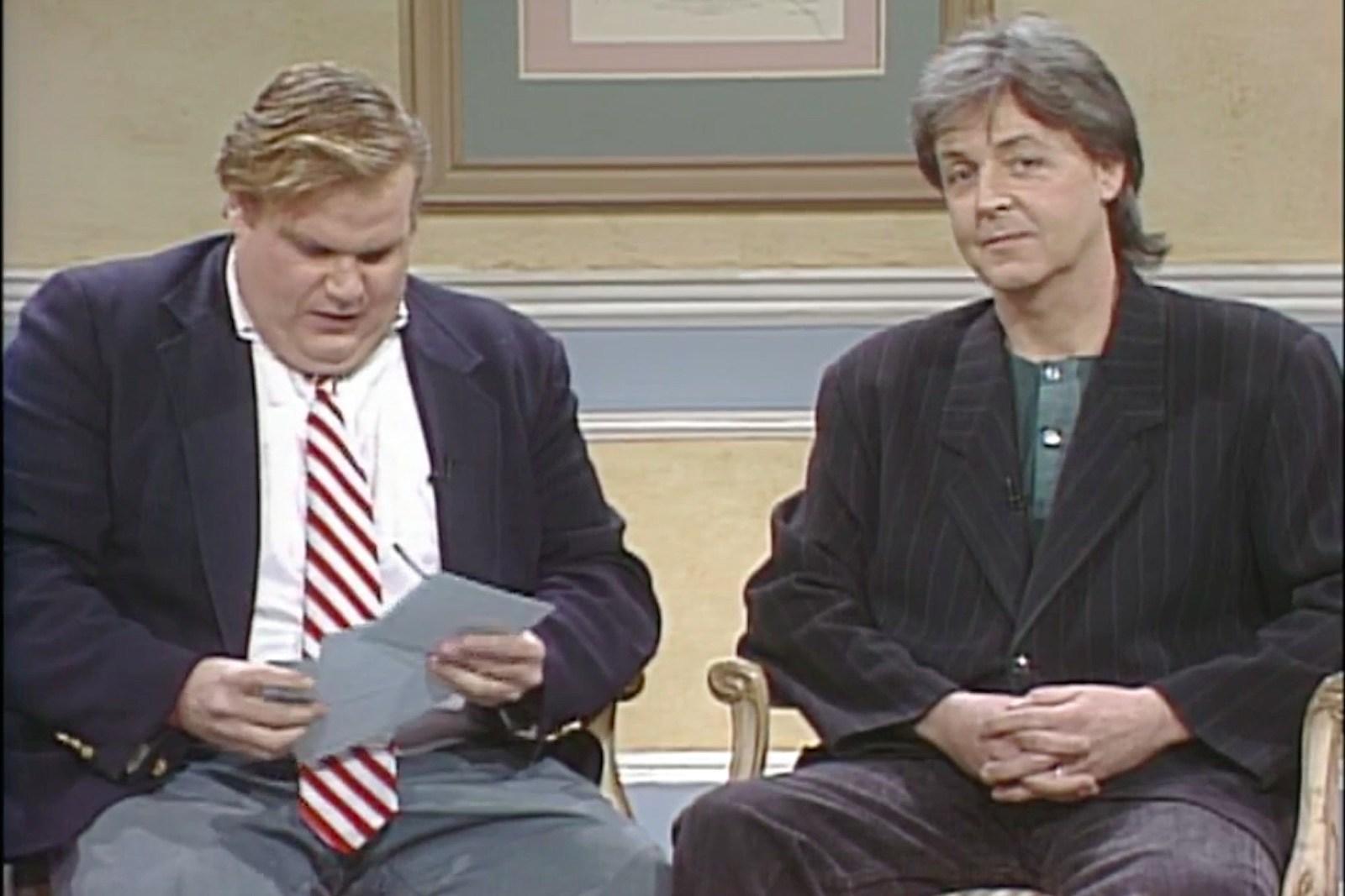 when chris farley interviewed paul mccartney on snl