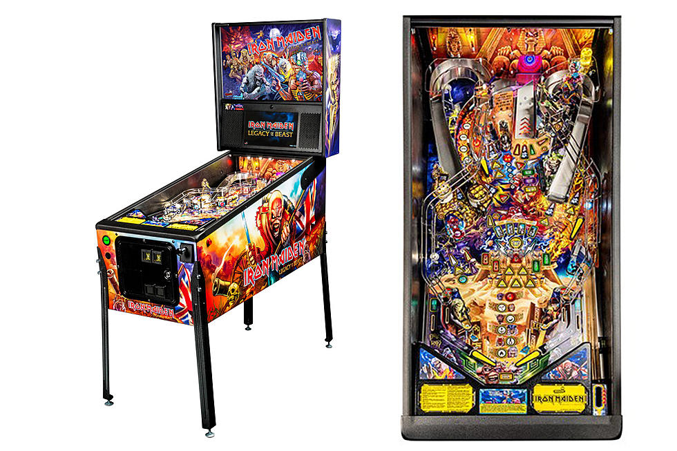 Take a Look at Iron Maiden's Legacy of the Beast Pinball Machine
