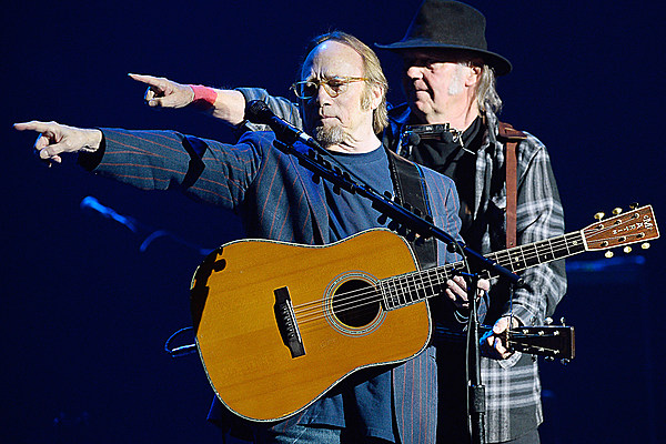 Neil Young Reunites With Stephen Stills at Benefit Concert
