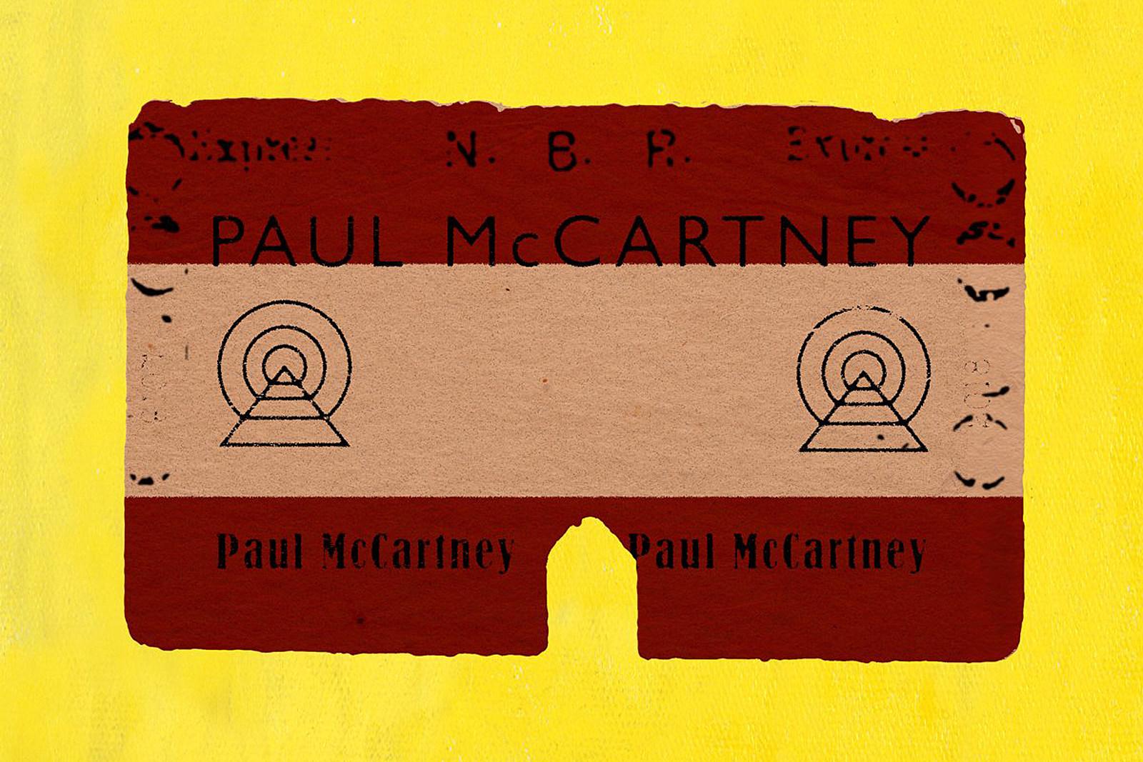 BEATLES PAUL McCARTNEY NAMEPLATE FOR SIGNED PHOTO//RECORD//ALBUM