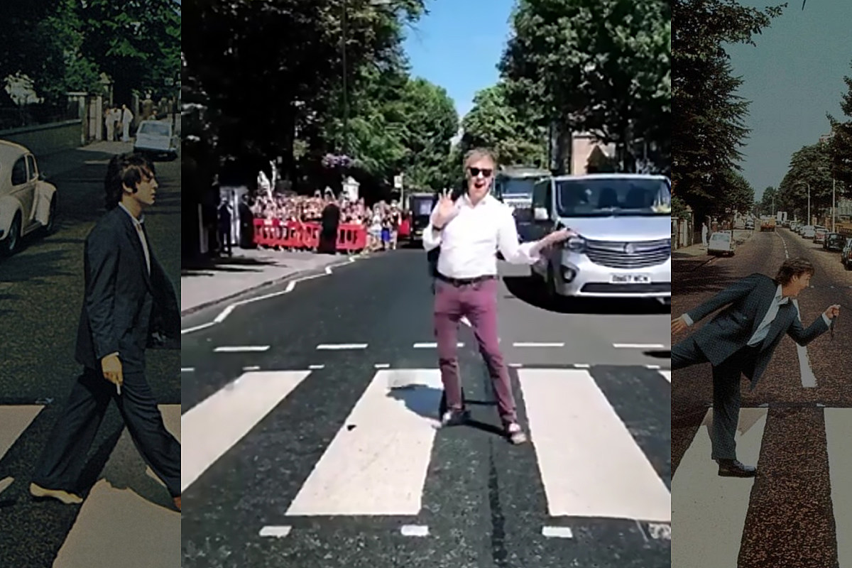 Paul Mccartney Once Again Walks Across Abbey Road