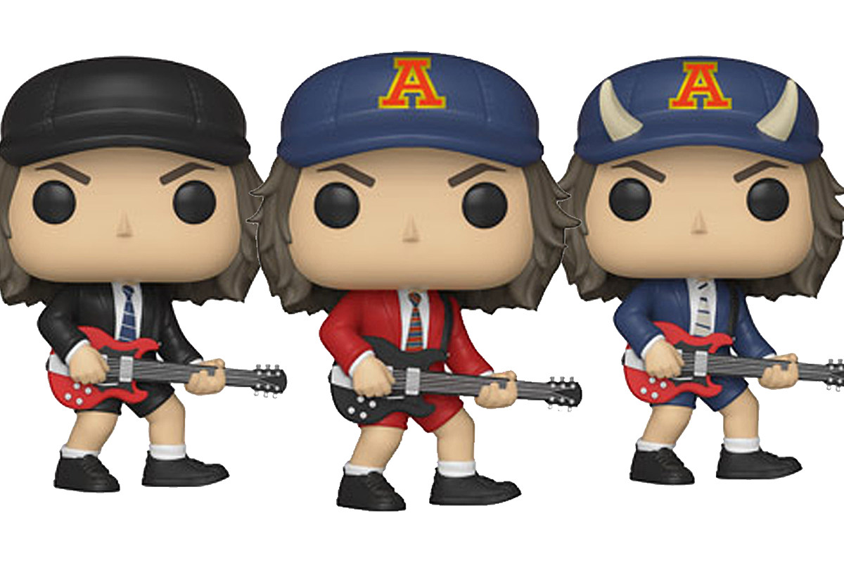 Ac Dc S Angus Young Gets Three Funko Pop Figures
