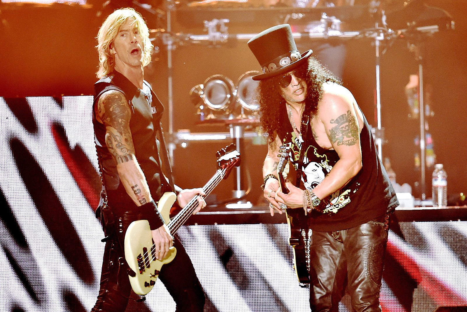 Watch Guns N' Roses Members Soundcheck Rare Song 'Hard School'
