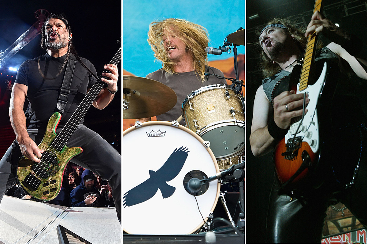 members of foo fighters metallica and iron maiden jam together. Black Bedroom Furniture Sets. Home Design Ideas