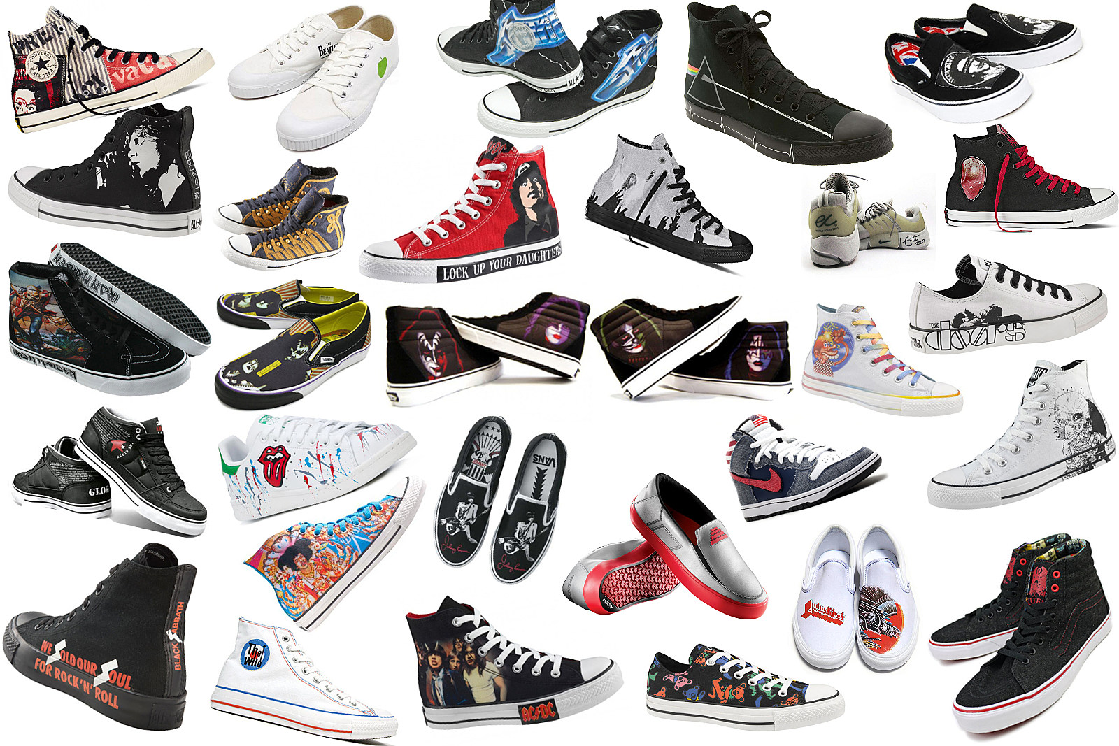 e1793f3e80e48a Walk This Way  66 Rock  n  Roll Sneakers